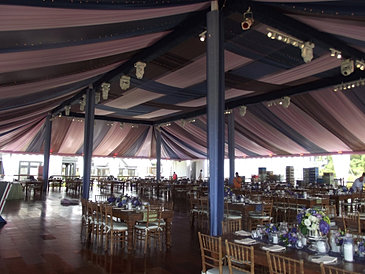The wedding of the year. Featured in Marthau0027s Vineyard magazine  Island Wedding.  This 120ft.x100ft. wide tent fully draped in multiple colors of the night ... & New England Event decor/Lighting | Gallery