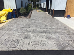 Stamped Concrete Driveway/Walkway