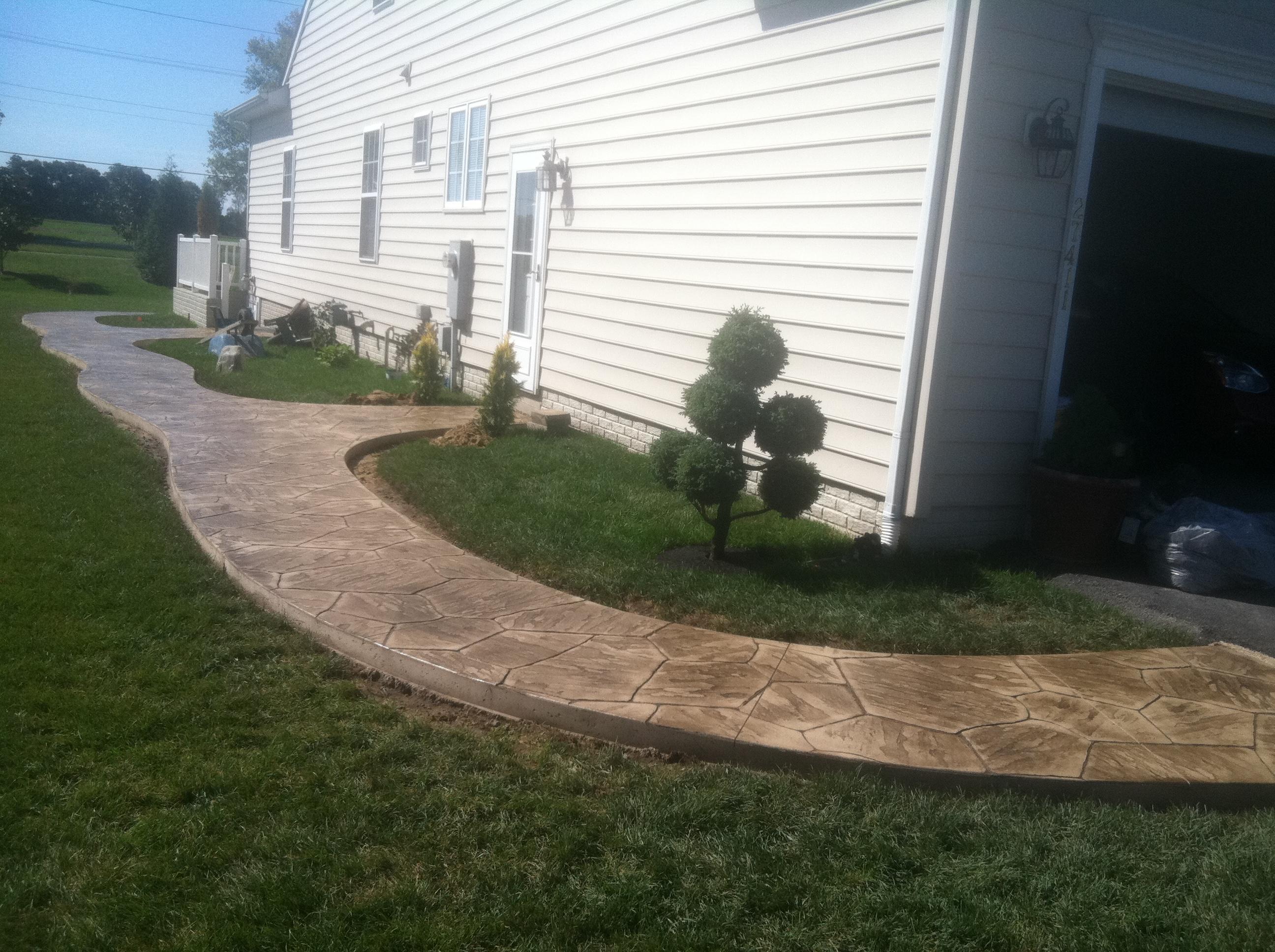 Stamped Concrete Sidewalk Milton, DE