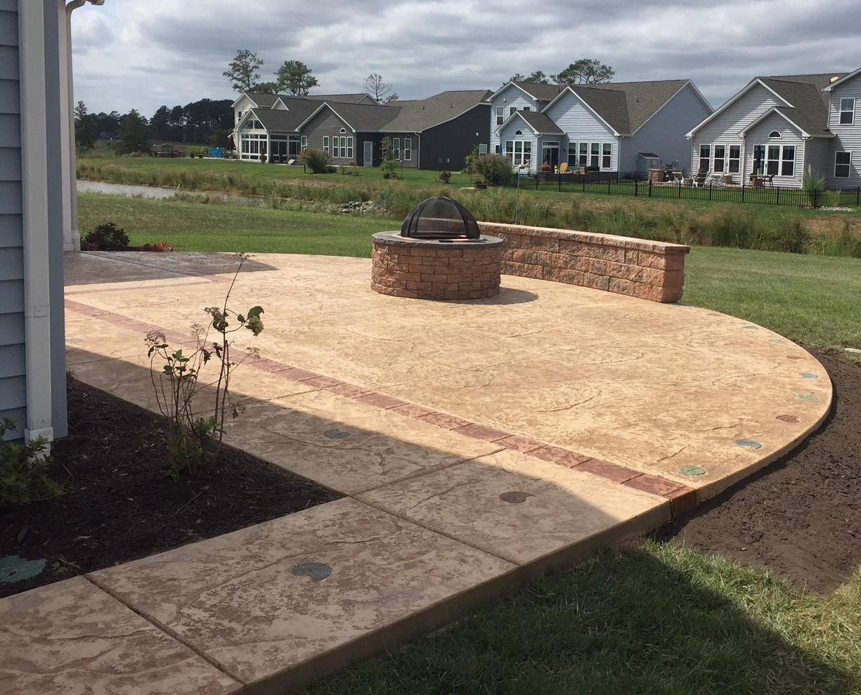Stamped Concrete Patio Delaware