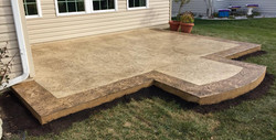Stamped Concrete Patio w/ Border