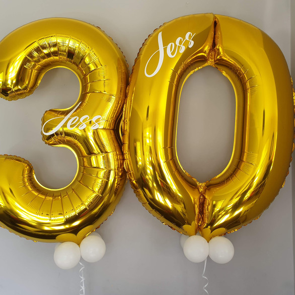 Personalised Giant Number Balloons