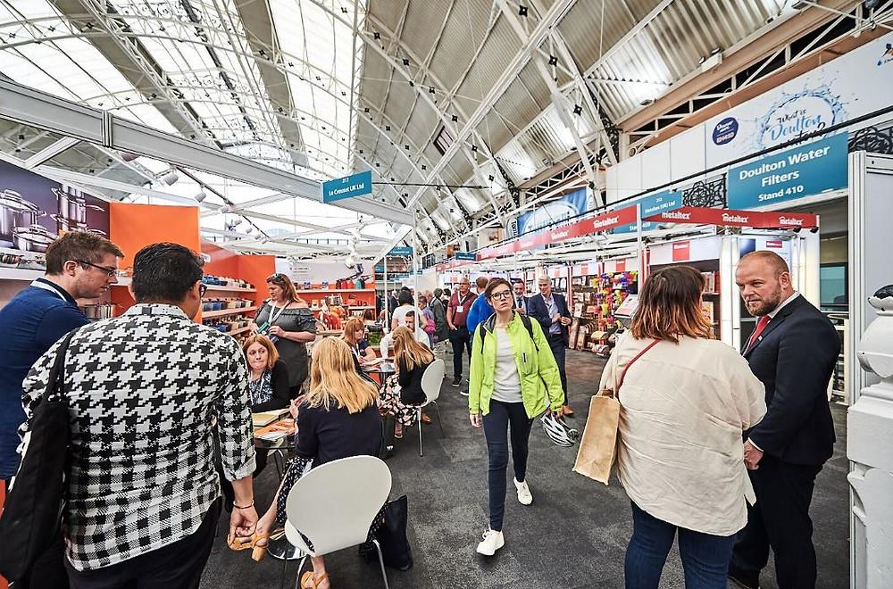 A busy trade fair in London