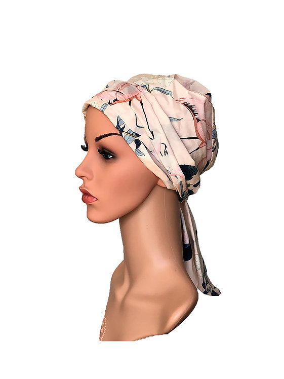 Tassie Chemo Turban/Easy Tie Head Scarf For Cancer Patients