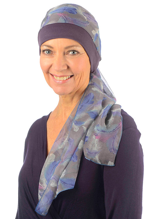 Jasmine Chemo Headcover Hat With Scarf