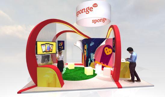 Sponge small exhibition stand design
