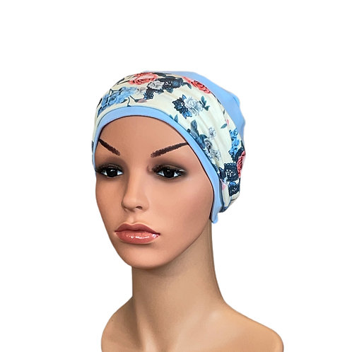Lucy Chemo Hat With Removable Vintage Floral Headband