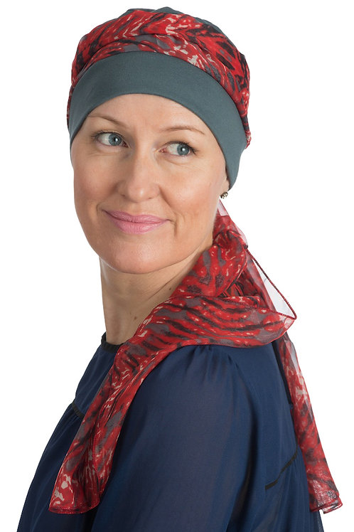 Maria Chemo Head Scarf With Attached Hat