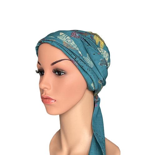Skylar Chemo Turban/Easy Tie Head Scarf For Cancer Patients