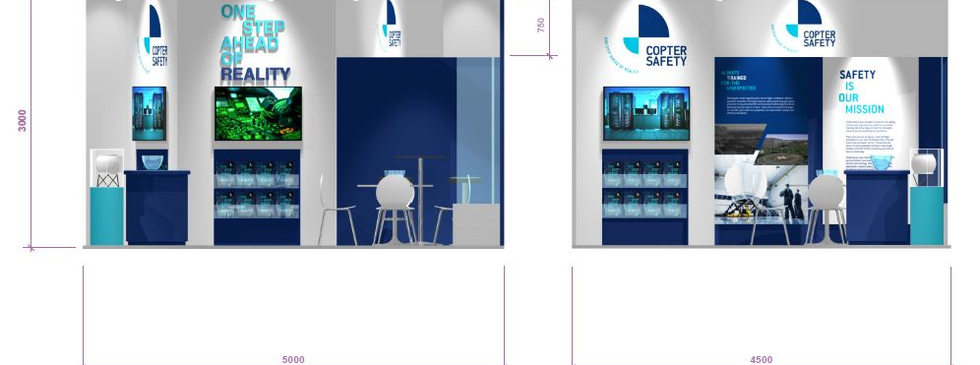 Copter safety small exhibition stand design