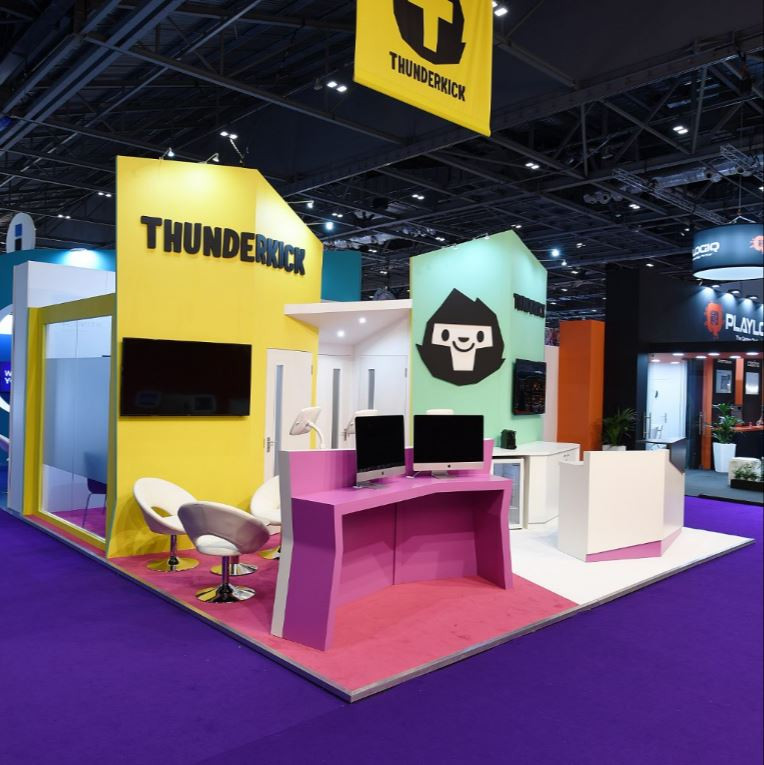 Thunkerkick exhibition stand designed and built by ESM