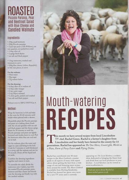 food writing and recipe development