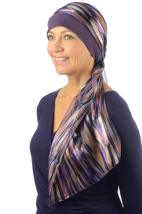 India Chemo Hat With Head Scarf