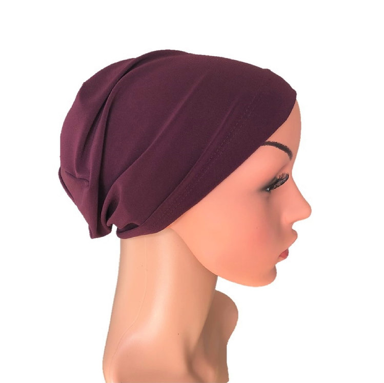 Emily Chemo Beanie for Hairloss Plum