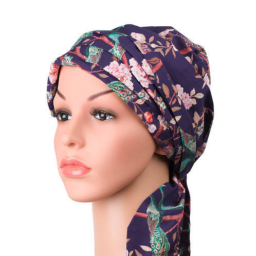 Natalie Chemo Turban/Easy Tie Head Scarf For Cancer Patients