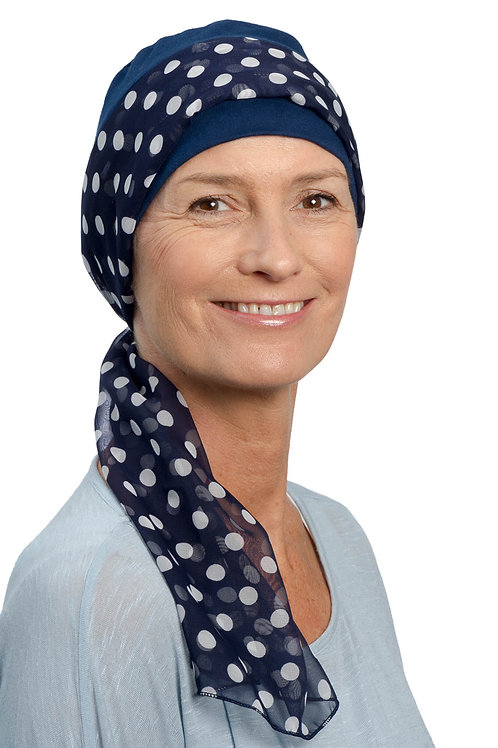 Sofia Chemo Hat & Attached Head Scarf