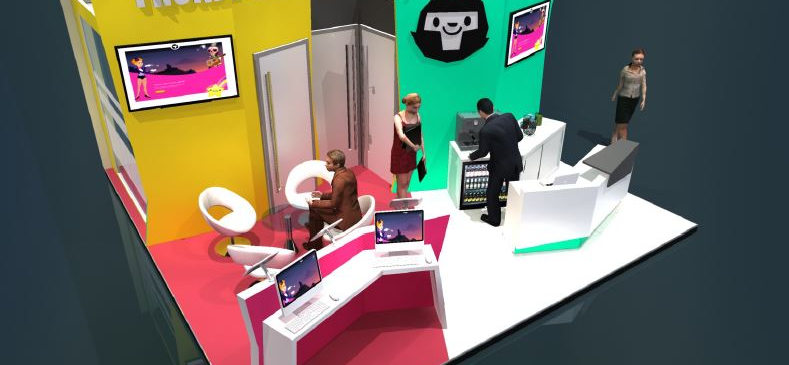 thunderkick. small exhibition stand design