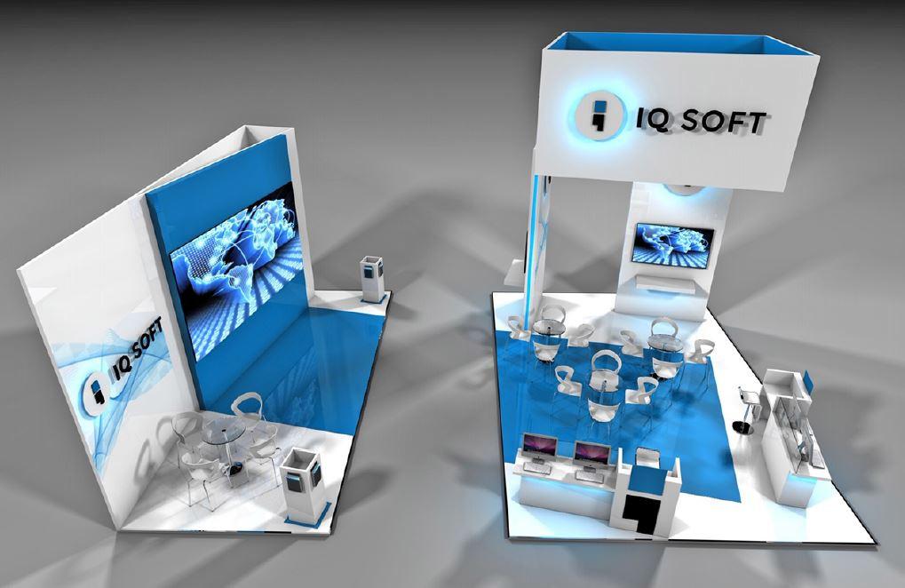 IQ Soft exhibition stand design