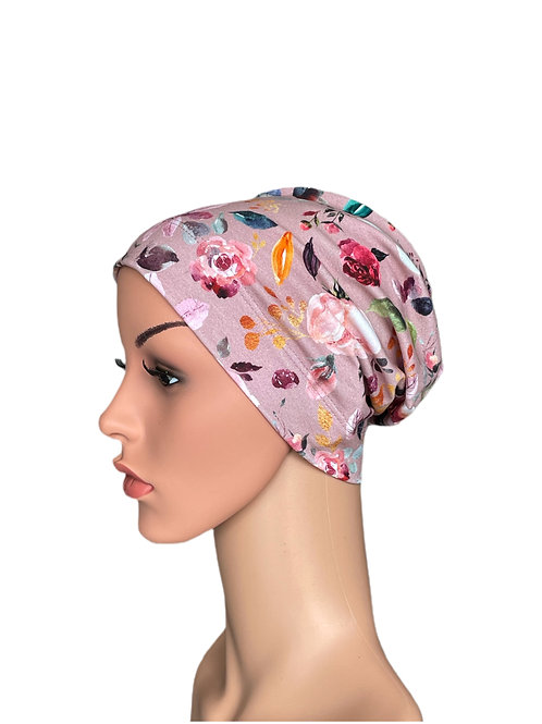 Molly Chemo Beanie for Hair Loss Vintage Rose