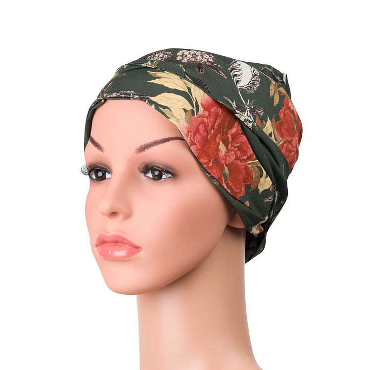 Charlotte Chemo Turban/Easy Tie Head Scarf For Cancer Patients