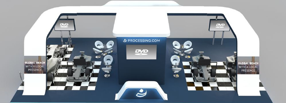 Processing exhibition stand designer