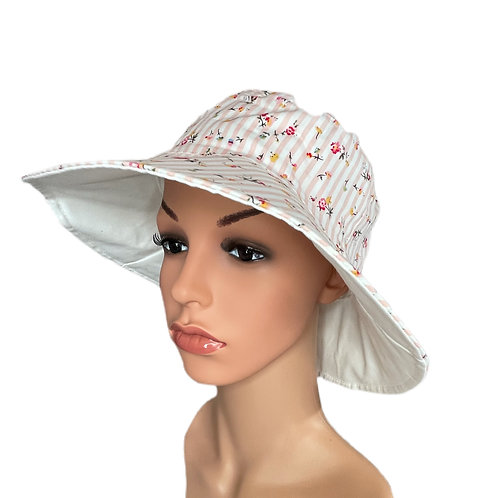 Claudia Ditsy Floral Print Sun Hat Pink