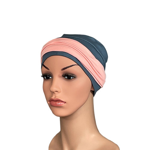 Lucy Chemo Hat With Removable Coral Plain Headband