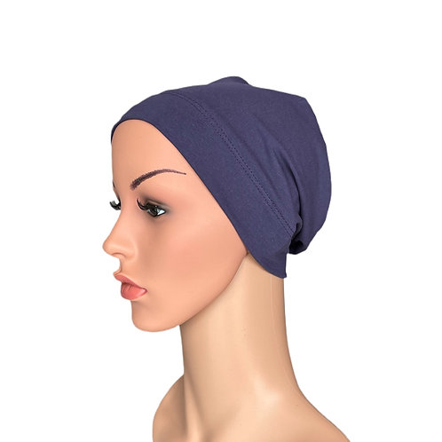 Molly Chemo Beanie for Hair loss in Violet