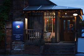 front of enzee restaurant