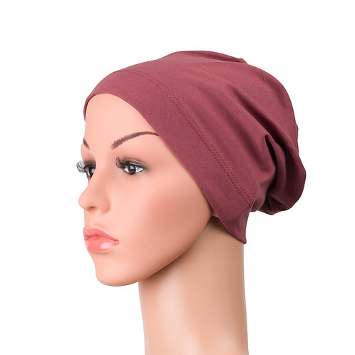 Molly Chemo Beanie for Hairloss in Mulberry
