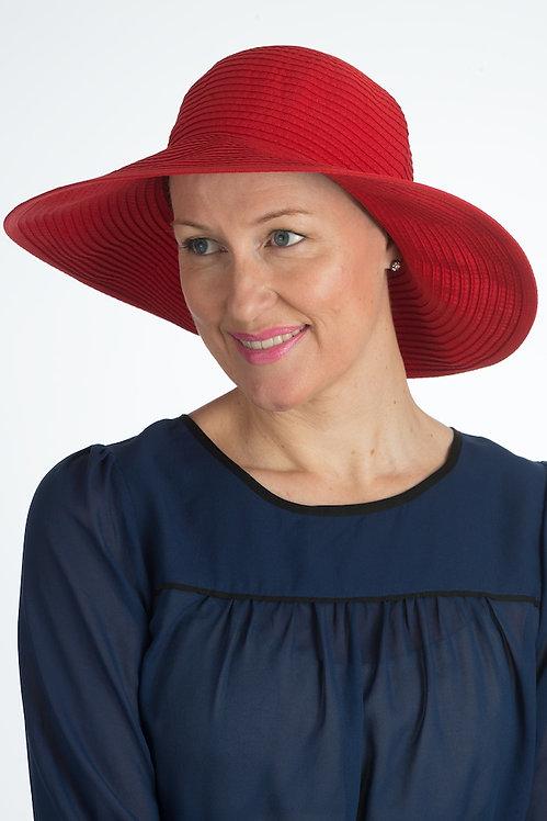 Angelina Sun Hat Red
