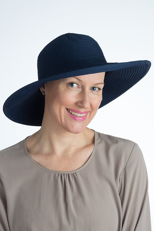 Angelina Sun Hat Navy