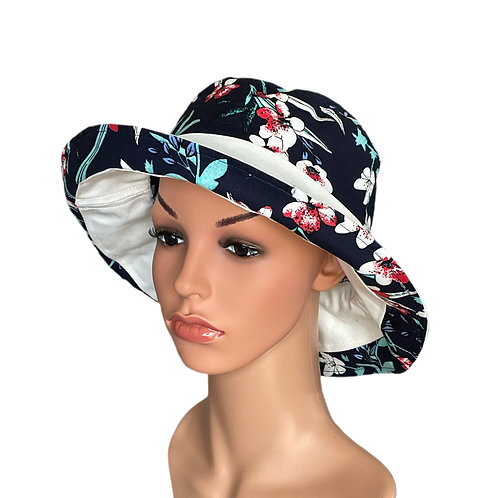 Corrine Reversible Sun Hat Navy
