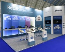 Cybertill trade show design & build