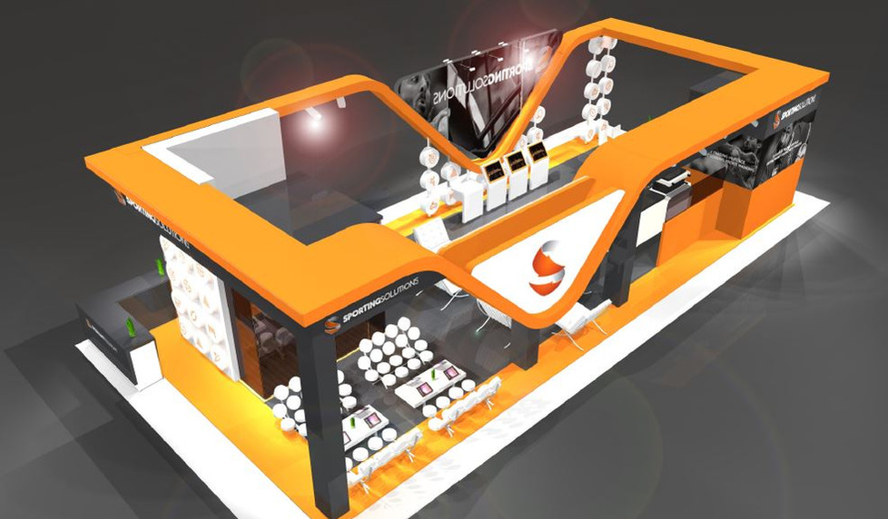 Sporting Solutions exhibition stand designer