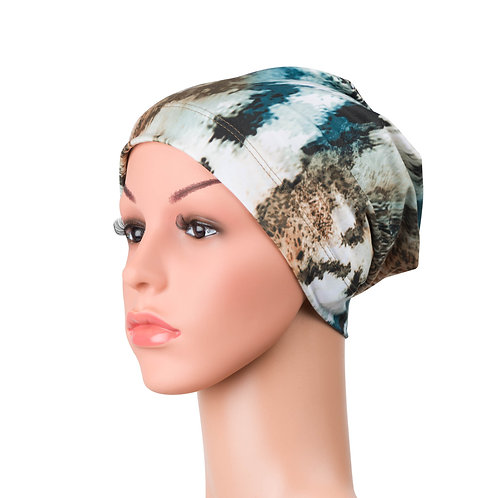 Hannah Chemo Beanie for Hairloss Animal Print