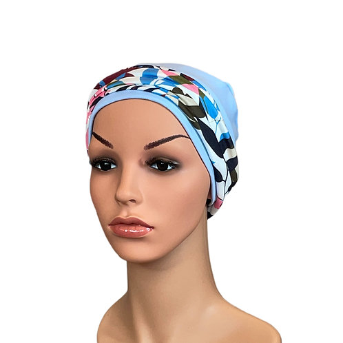 Lucy Chemo Hat With Removable Leaf Print Headband