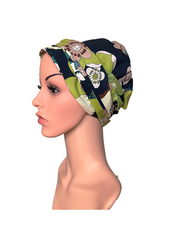 Hazel Chemo Turban/Easy Tie Head Scarf For Cancer Patients