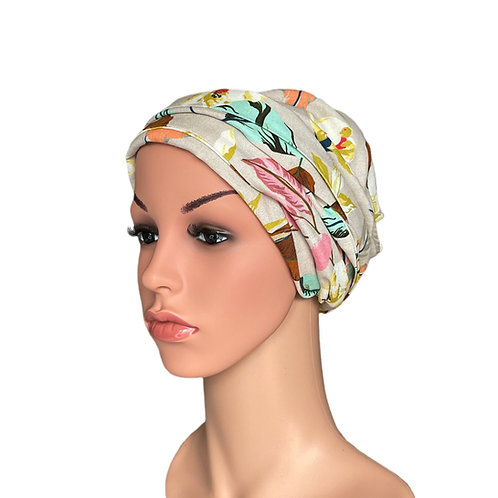 Hannah Chemo Turban/Easy Tie Head Scarf For Cancer Patients