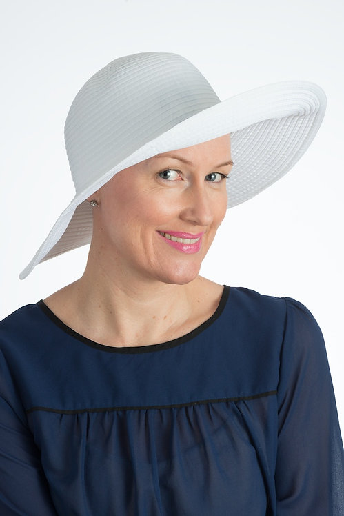Angelina Sun Hat White