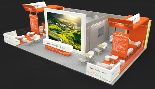Avis large exhibition stand designers UK