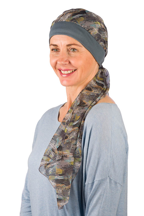 Abigail Chemo Hat With Attached Head Scarf