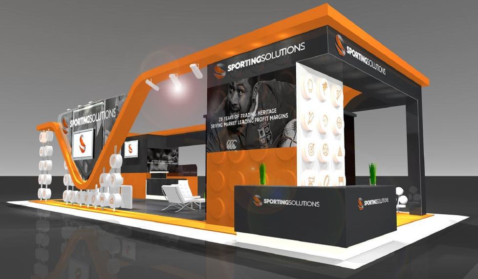 Sporting Solutions exhibition stand design UK
