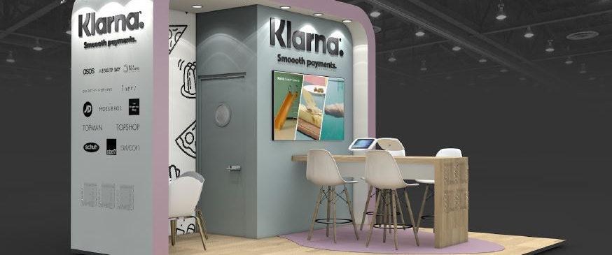 Klarna small exhibition stand design