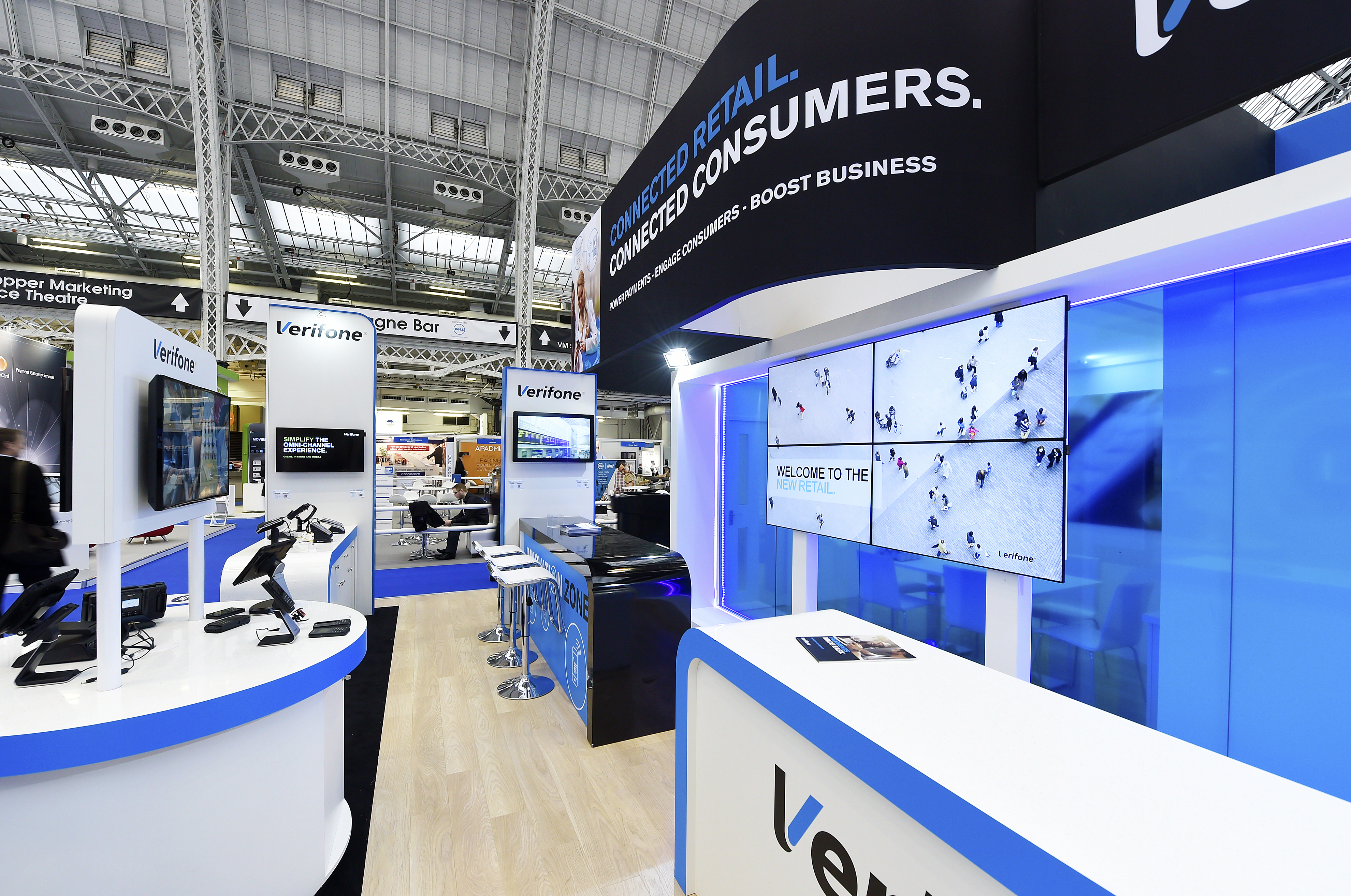 large exhibition stand builder