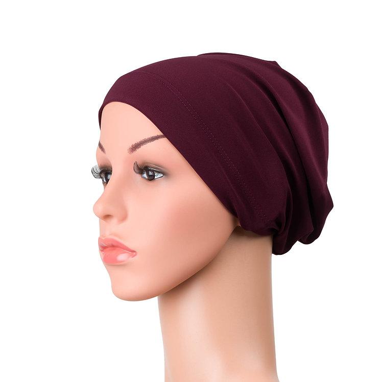 Emily Chemo Beanie for Hairloss Plum