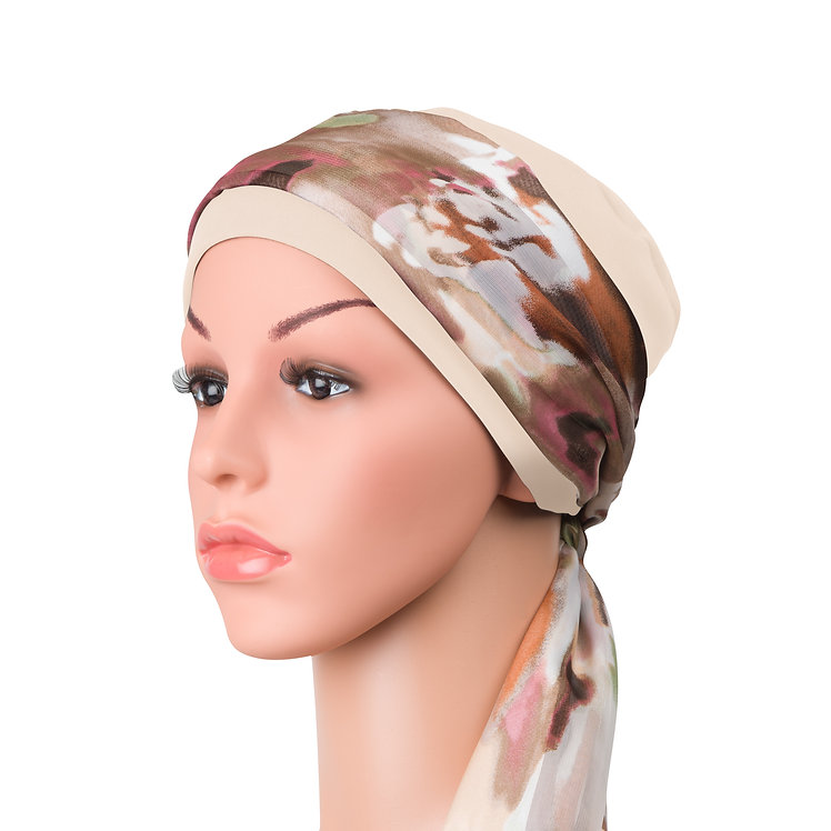 Lauren Chemo Hat and Head Scarf