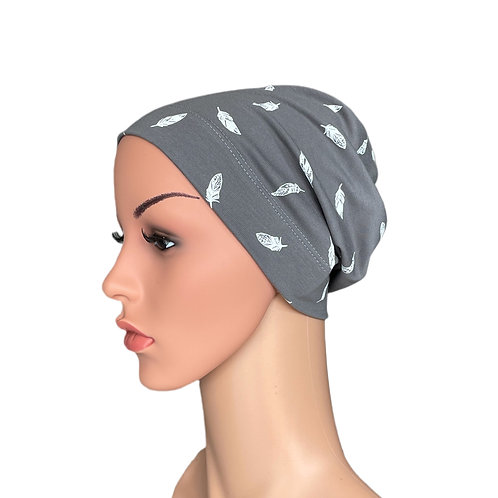 Molly Feather Grey Chemo Beanie for Hair loss