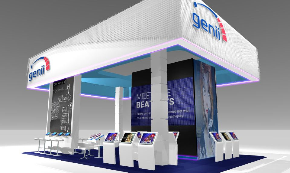 Genii large exhibition stand designers