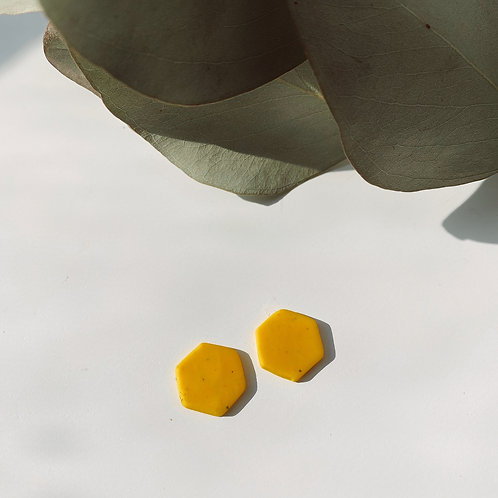 Hexagon || Mini in Yellow Speckle